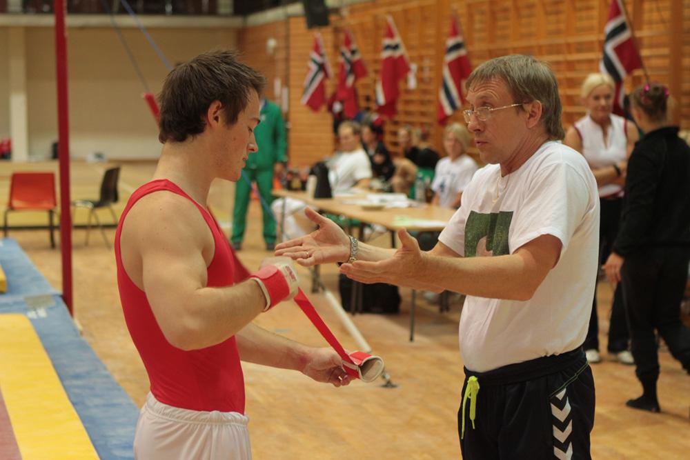 Håkon Andreassen og hans trener, Slava Strokin