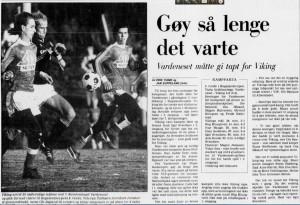 Faksimile fra Aftenbladet.