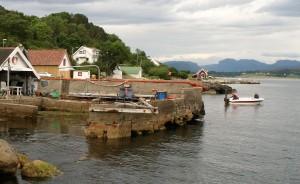 Her fra den gamle kaien på Austre Åmøy. FOTO: PER THIME